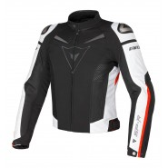 Cazadora Dainese Super Speed Tex negro/blanco/rojo