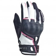 Guantes Ixon RS Grip lady HP negro/blanco/rosa