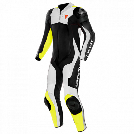 Mono Dainese Assen 2 1pc perf. Leather suit BLACK/WHITE/FLUO-YELLOW