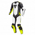 Mono Dainese Laguna Seca 4 1pc perf. WHITE/BLACK/FLUO-YELLOW
