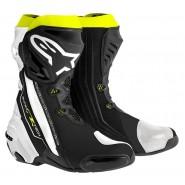 Botas Alpinestars Supertech R negro/blanco/amarillo flúor