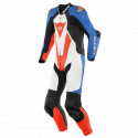 MONO DAINESE LAGUNA SECA 5 1PC PERFORADO WHITE/LIGHT-BLUE/BLACK/FLUO-RED