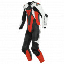 MONO DAINESE LAGUNA SECA 5 1PC PERFORADO BLACK/WHITE/FLUO-RED