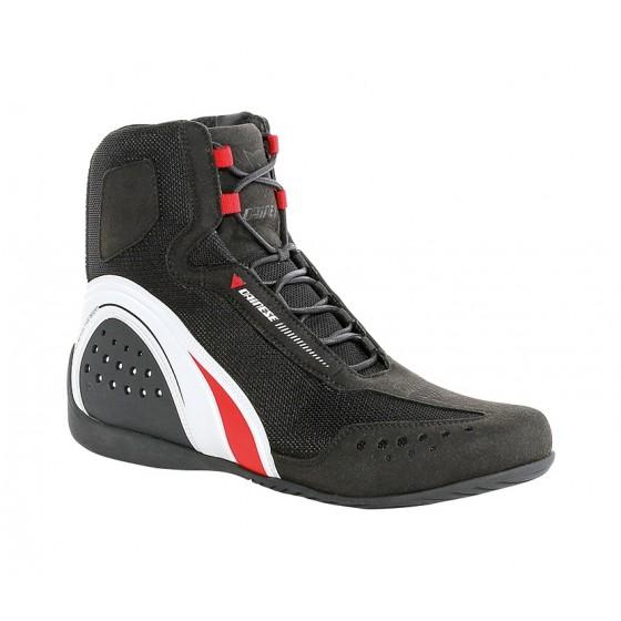Botín Dainese Motorshoe Air negro/blanco/rojo