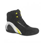 Botín Dainese Motorshoe D-WP negro/blanco/amarillo flúor