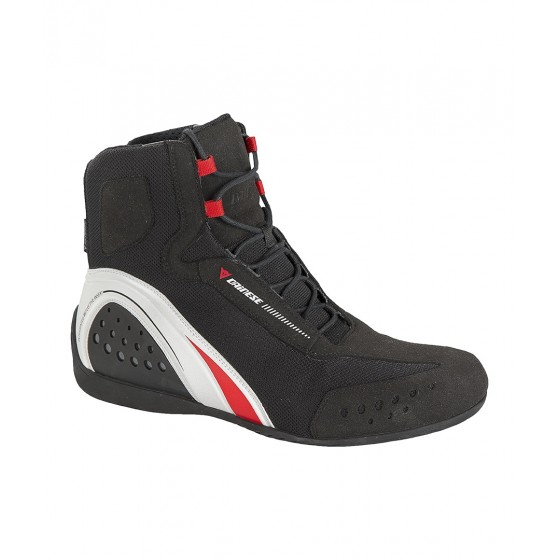 Botín Dainese Motorshoe D-WP negro/blanco/rojo