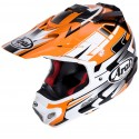 Casco Arai Mx-V Tip Orange decorado