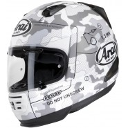 Casco Arai Rebel Command White decorado