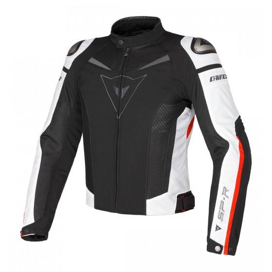 Cazadora Dainese Super Speed Tex negro/blanco/rojo