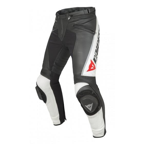 Pantalón Dainese Delta Pro C2 Pelle negro/blanco