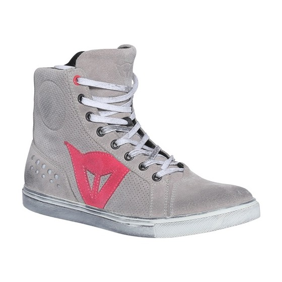 Zapatillas Dainese Street Biker Lady Air gris claro/coral