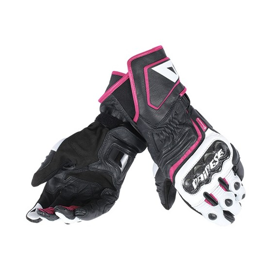 Guantes Dainese Carbon D1 Long Lady negro/blanco/fuxia