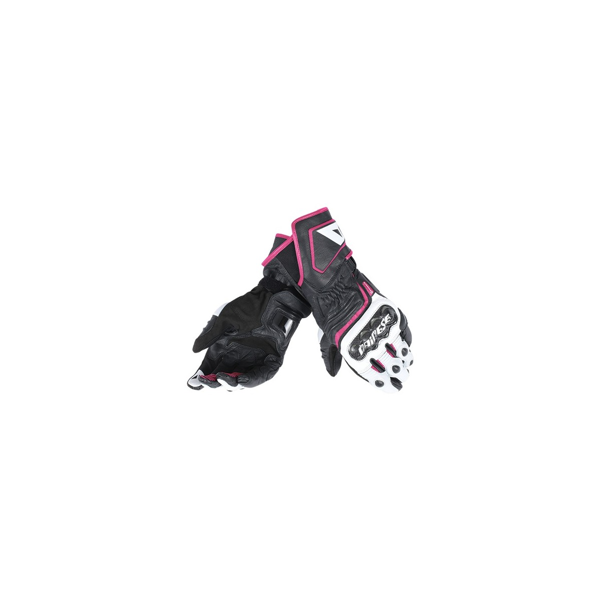 1ea8032a Guantes Dainese Carbon D1 Long Lady negro/blanco/fuxia, compra online