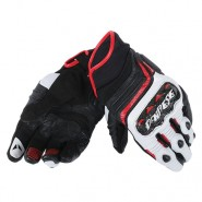 Guantes Dainese Carbon D1 Short Lady negro/blanco/rojo