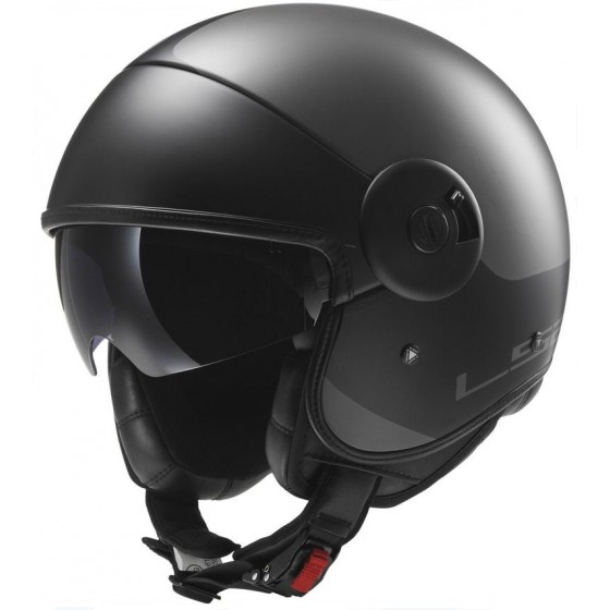 Casco LS2 OF597 Via titanio mate/negro