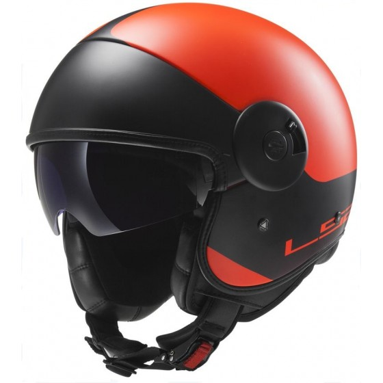 Casco LS2 OF597 Via naranja mate/negro