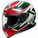 Casco Shoei NXR Valkirie rojo/verde/blanco