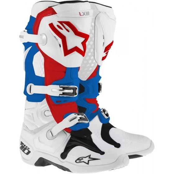 Botas Alpinestars Tech 10 blanco/azul/rojo