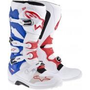 Botas Alpinestars Tech 7 blanco/azul/rojo