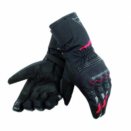 Guantes Dainese Tempest D-Dry negro/rojo