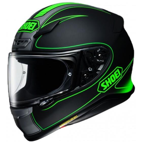 Casco Shoei NXR Flagger negro mate/ verde negro mate, verde