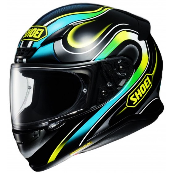 Casco Shoei NXR Intense negro, azul, amarillo