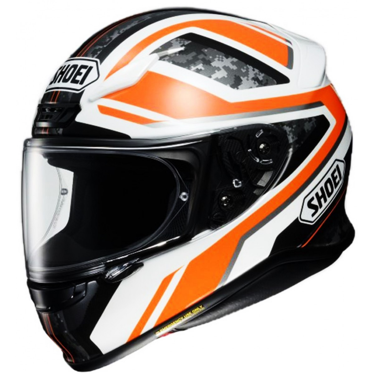 Casco Shoei Nxr Parameter Blanco Naranja Blanco Naranja