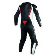 Mono Dainese Assen perforado profesional negro/ blanco/ rojo negro, blanco, rojo