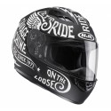 Casco HJC CS-15 Rebel negro/ blanco negro, blanco