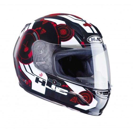 Casco HJC CL-Y Simitic Junior negro/ rojo negro, rojo
