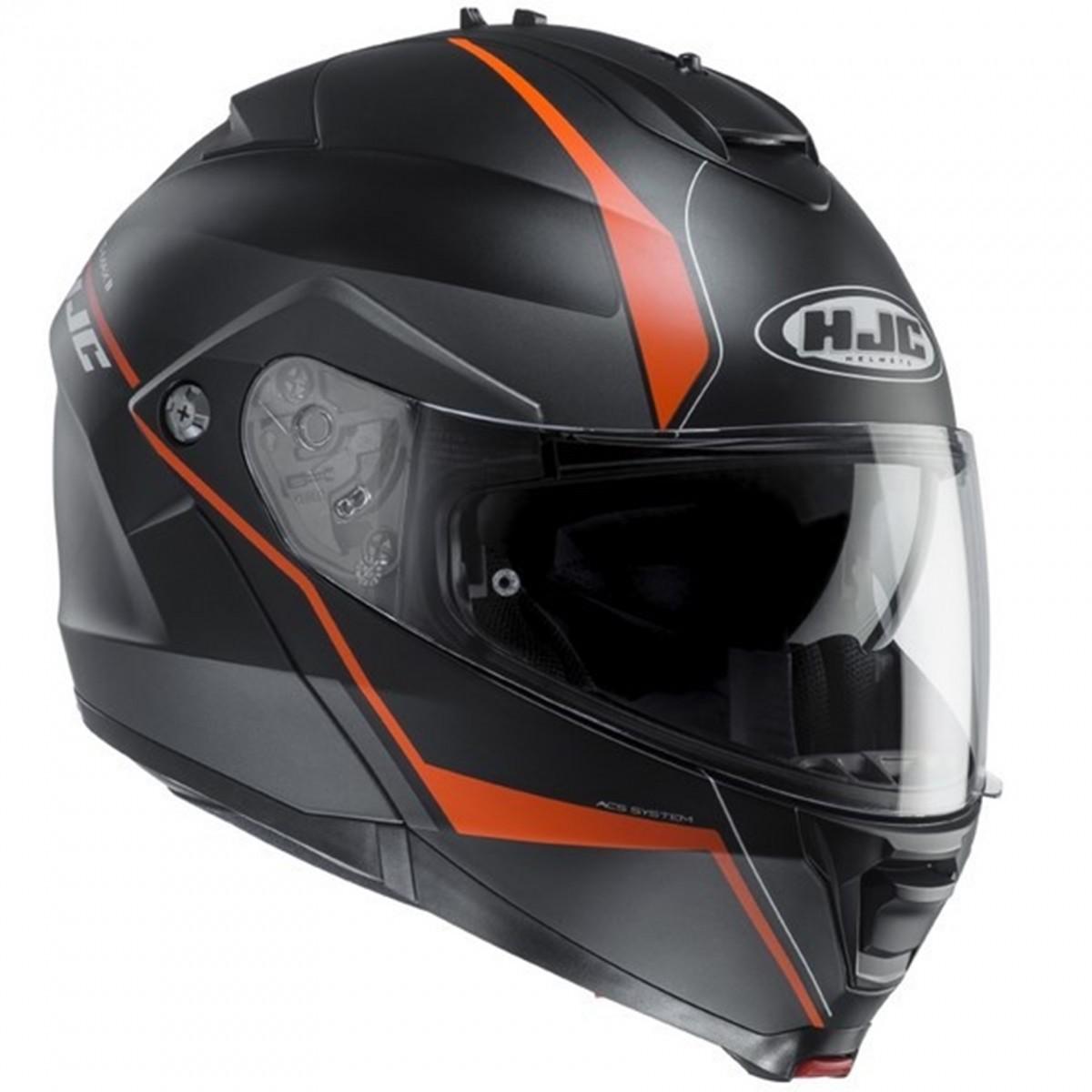 77e779574de52 HJC logo Casco HJC IS-Max II Mine negro  naranja