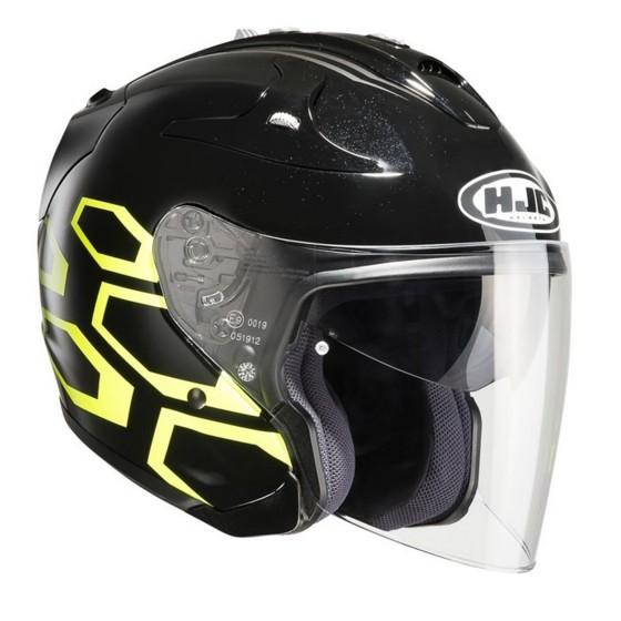 Casco HJC FG-JET Dukas negro/ amarillo negro, amarillo