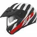 Casco Schubert E1 Hunter rojo negro, rojo, blanco