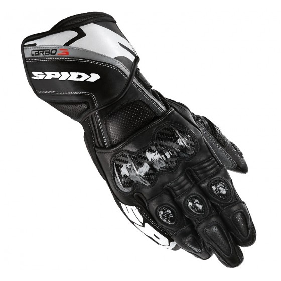 Guante Spidi Carbo3 Leather Negro piel