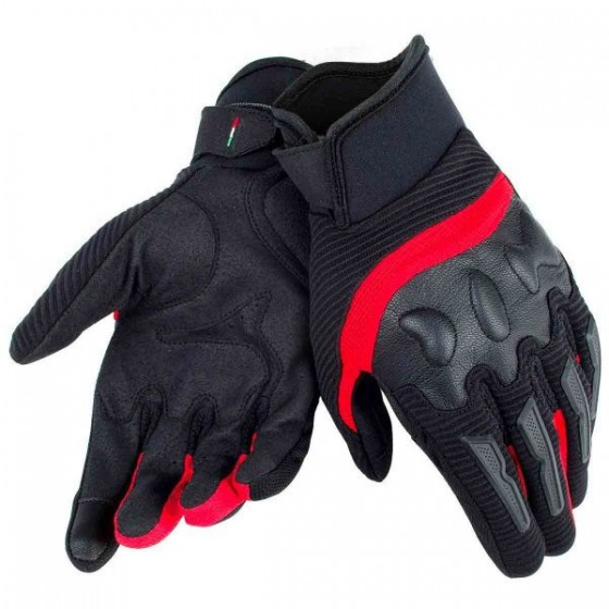 Guantes Dainese Air Frame Unisex Negro/Rojo