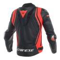 Chaqueta Dainese Mugello leather jacket Black/Fluo Red