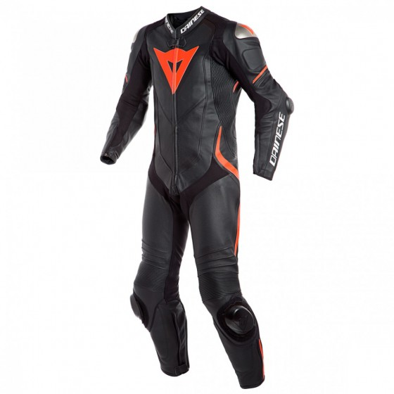 Mono Dainese Laguna Seca 4 1pc black/fluo red rojo, multicolor