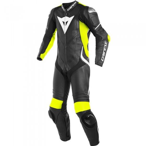 Mono Dainese Laguna Seca 4 1pc black/fluo yellow/white Alta visibilidad, multicolor