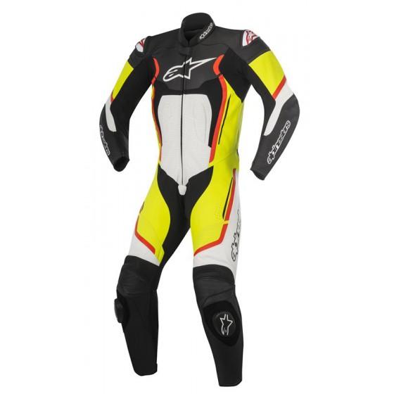 Mono Alpinestars Motegi V2 1pc black/white/yellow red fluo Alta visibilidad, multicolor