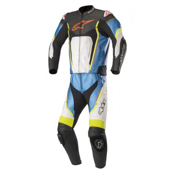 Mono Alpinestars Motegi V2 2pcs black/white/blue/yellow fluo Alta visibilidad, multicolor
