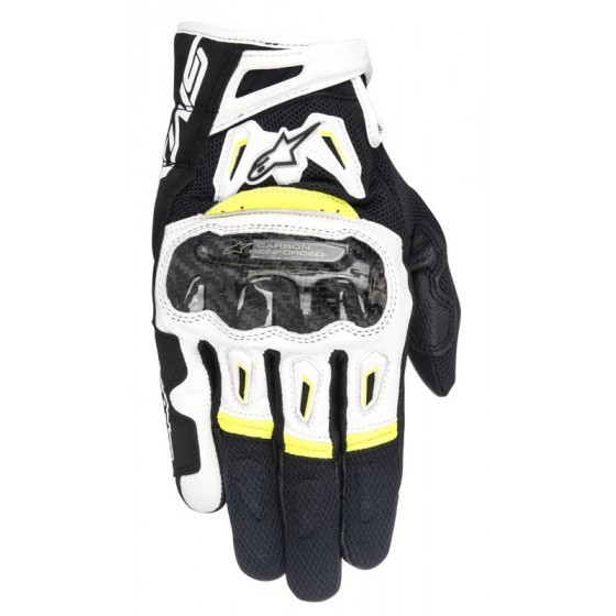 Guante Alpinestars SMX-2 Air black/ white/ yellow fluo