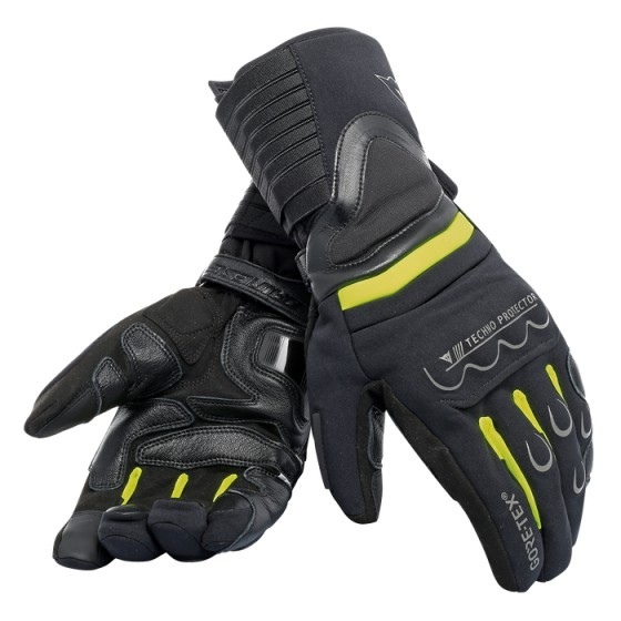 Guante Dainese Scout 2 Unisex Gore Tex black/ yellow fluo