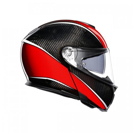 Casco Agv Sportmodular Aero-Carbon red