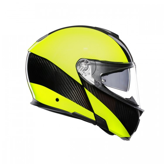 Casco Agv Sportmodular Aero-Carbon Yellow