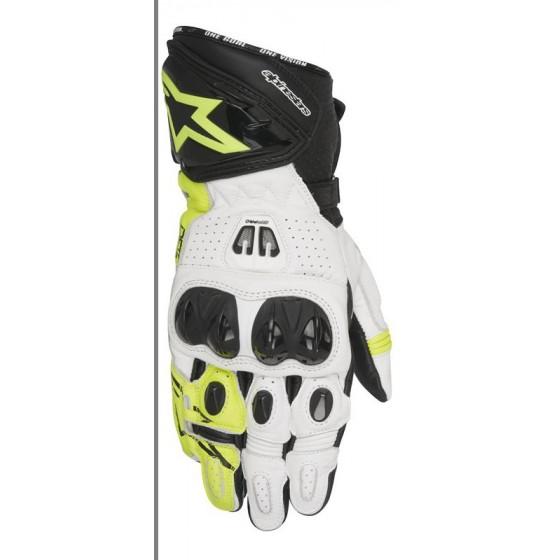 Guante Alpinestars GP Pro R2 black/ white/ yellow fluo