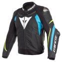 Chaqueta DAINESE SUPER SPEED 3 Black/fire-blue/yellow fluo