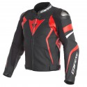 Chaqueta DAINESE AVRO 4 Black/ lava red/ white