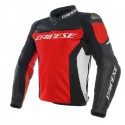 Chaqueta DAINESE Racing 3 leather red/black/white