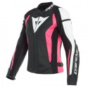 Chaqueta DAINESE Nexus LADY leather black/ white/ fucsia