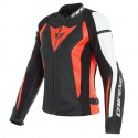 Chaqueta DAINESE Nexus LADY leather black/ white/ fluo red